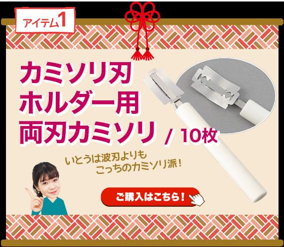 カミソリ刃ホルダー用両刃カミソリ / 10枚