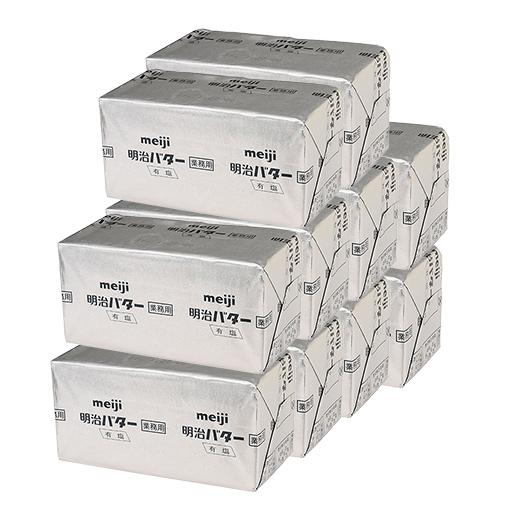 明治バター(加塩)/450g×10個セット