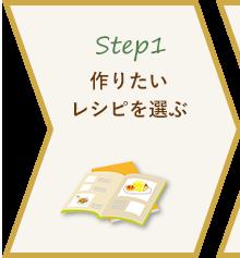 Step1 作りたいレシピを選ぶ