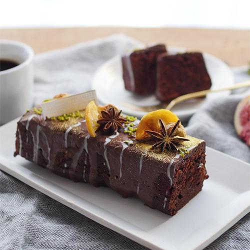 チョコラムレーズンケーキ