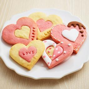 2色のハートクッキー