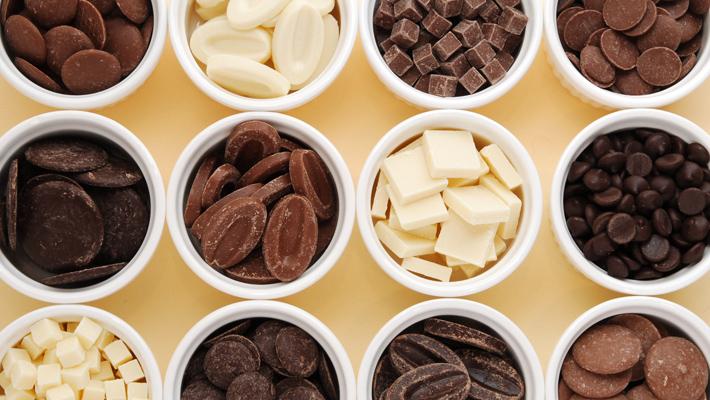 スイートチョコレートとミルクチョコレート